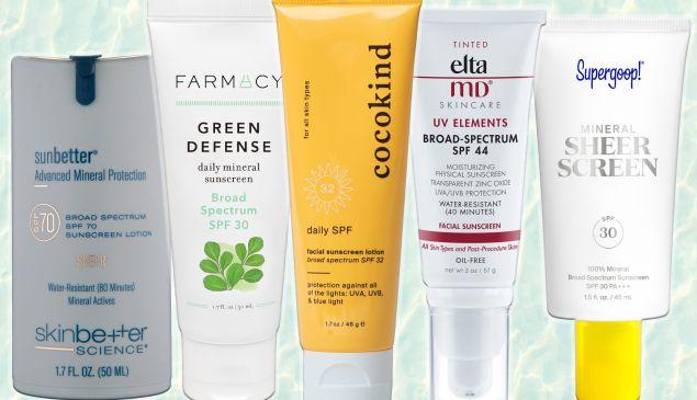Best mineral face sunscreens for sensitive skin
