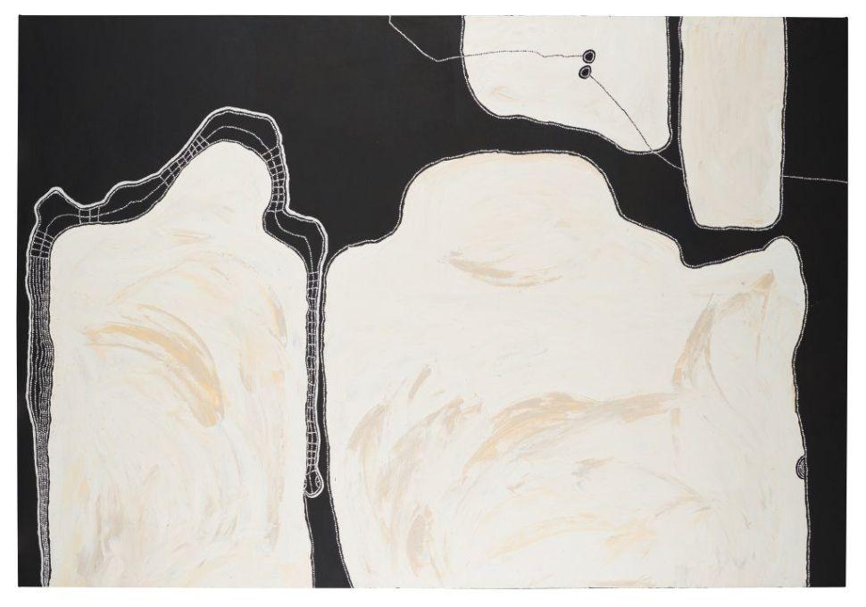 Timo Hogan Wins the $50,000 Telstra Art Award for Painting 'Lake Baker'