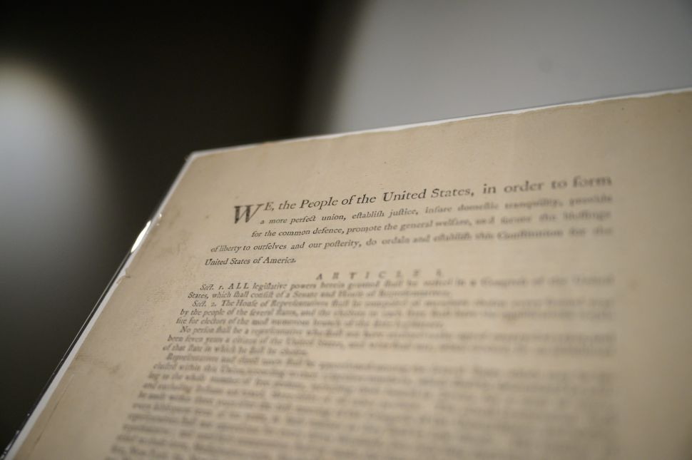 Sotheby's Is Selling a Copy of the U.S. Constitution in November