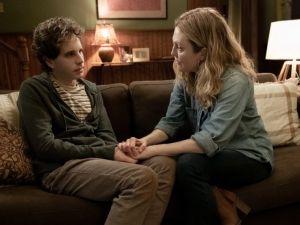 Ben Platt (L) and Julianne Moore (R) in 'Dear Evan Hansen'